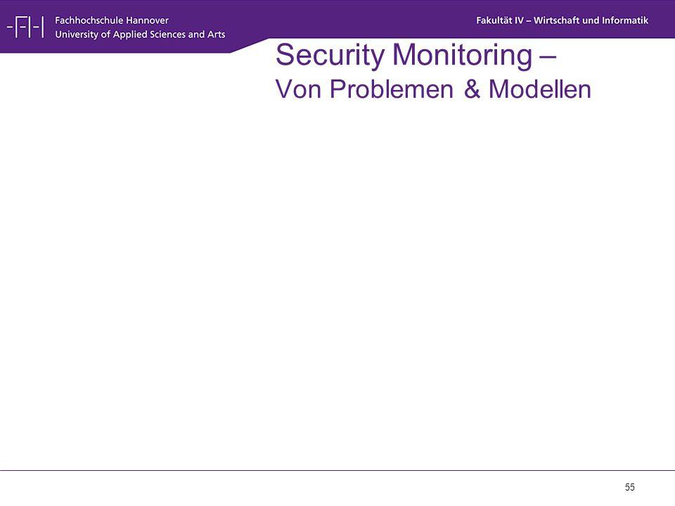 55 Security Monitoring – Von Problemen & Modellen