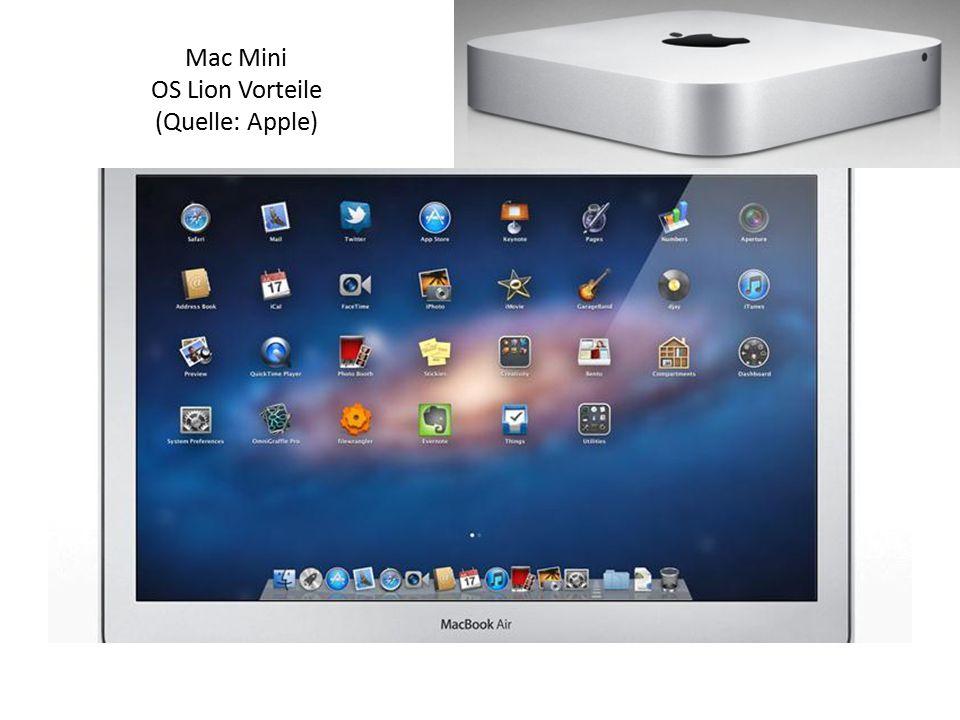 Mac Mini OS Lion Vorteile (Quelle: Apple)