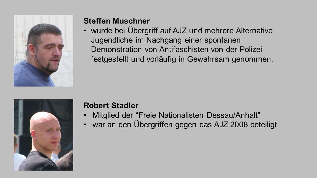 Steffen Muschner wurde bei Übergriff auf AJZ und mehrere Alternative Jugendliche im Nachgang einer spontanen Demonstration von Antifaschisten von der