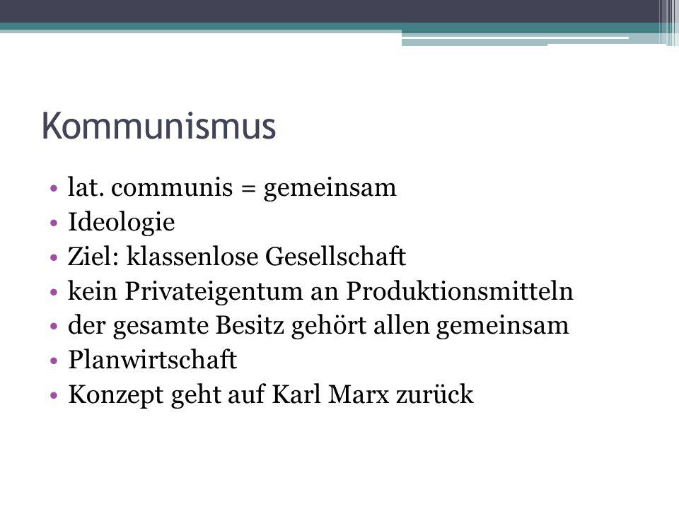 Kommunismus lat.