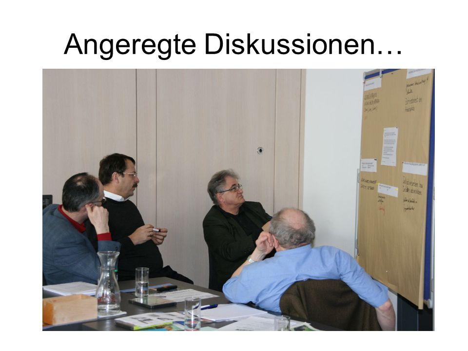 Angeregte Diskussionen…