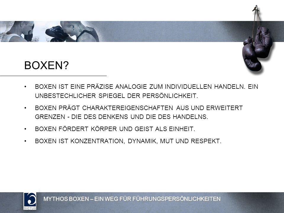 MYTHOS BOXEN – EIN WEG FÜR FÜHRUNGSPERSÖNLICHKEITEN BOXEN.