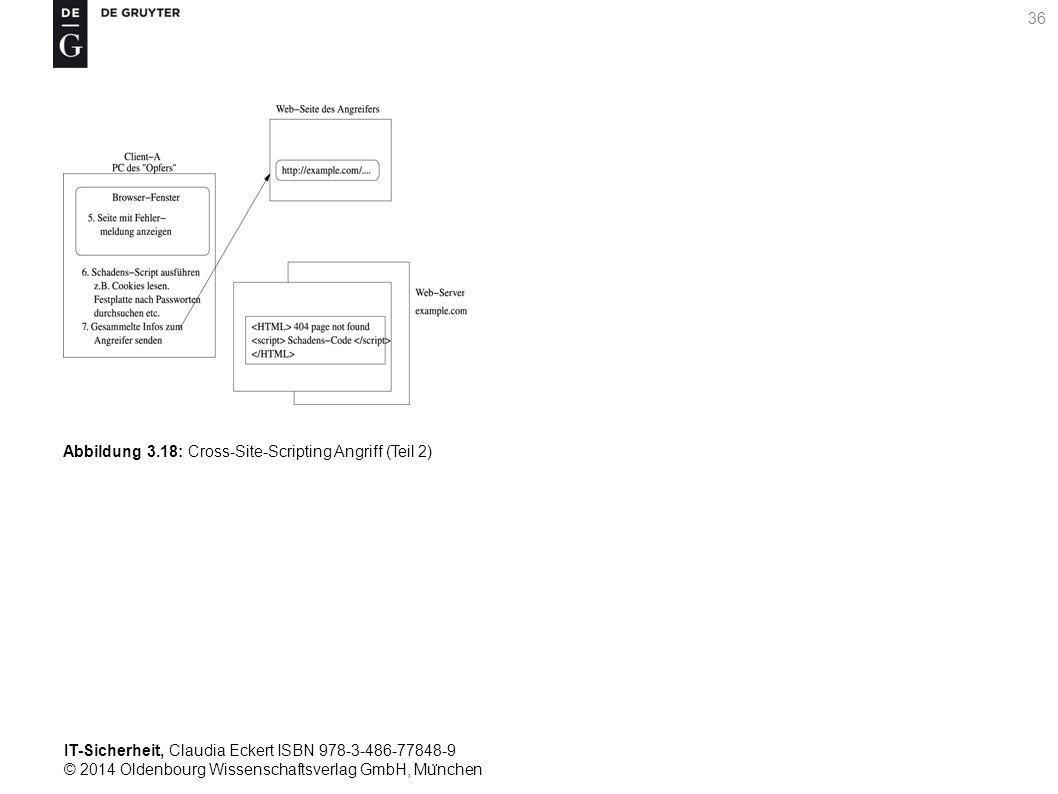 IT-Sicherheit, Claudia Eckert ISBN 978-3-486-77848-9 © 2014 Oldenbourg Wissenschaftsverlag GmbH, Mu ̈ nchen 36 Abbildung 3.18: Cross-Site-Scripting Angriff (Teil 2)