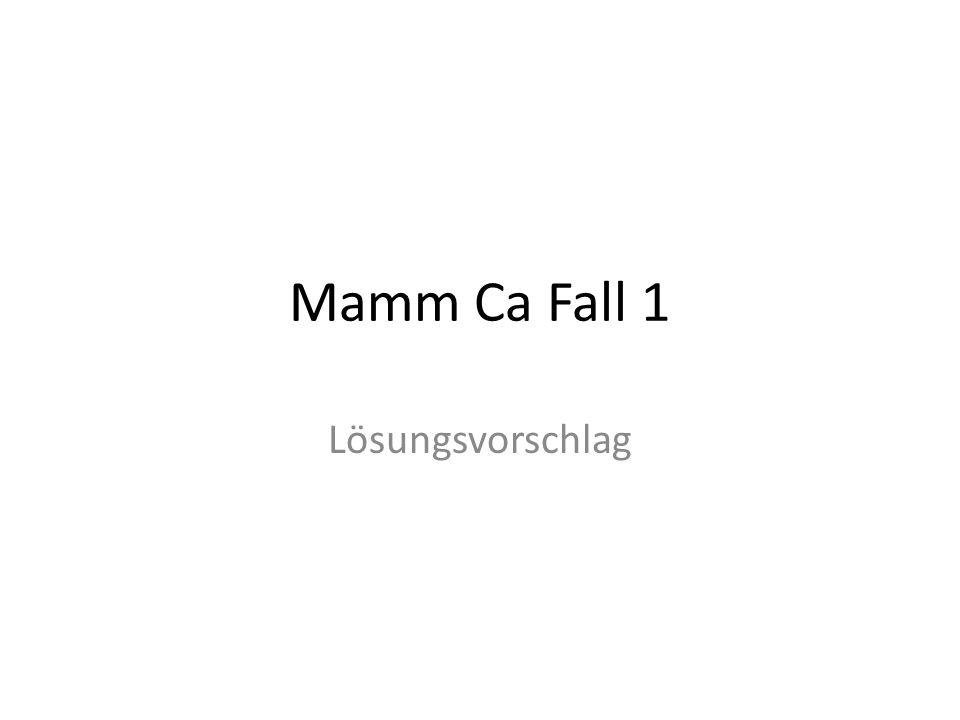 Mamm Ca Fall 1 Lösungsvorschlag