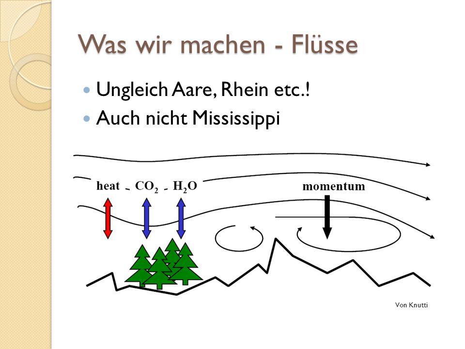Was wir machen - Flüsse Ungleich Aare, Rhein etc.! Auch nicht Mississippi Von Knutti