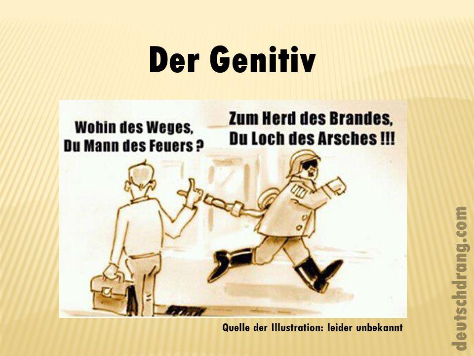 Der Genitiv deutschdrang.com Quelle der Illustration: leider unbekannt