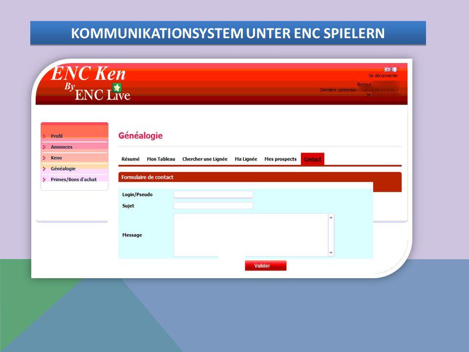 KOMMUNIKATIONSYSTEM UNTER ENC SPIELERN