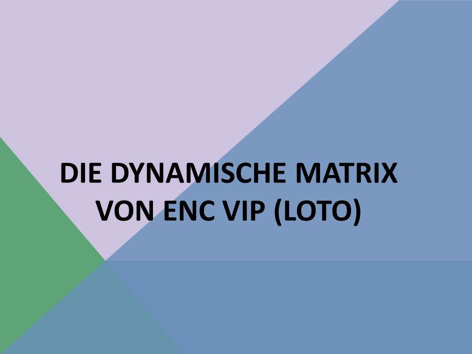 DIE DYNAMISCHE MATRIX VON ENC VIP (LOTO)