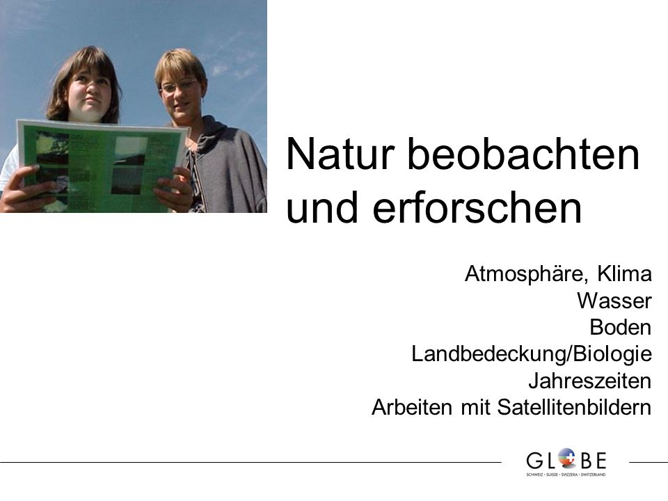 Natur beobachten und erforschen Atmosphäre, Klima Wasser Boden Landbedeckung/Biologie Jahreszeiten Arbeiten mit Satellitenbildern