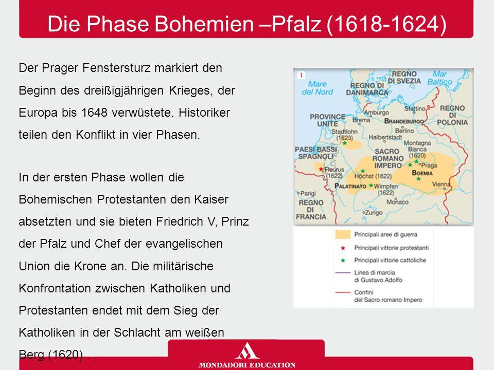 In der ersten Phase wollen die Bohemischen Protestanten den Kaiser absetzten und sie bieten Friedrich V, Prinz der Pfalz und Chef der evangelischen Un