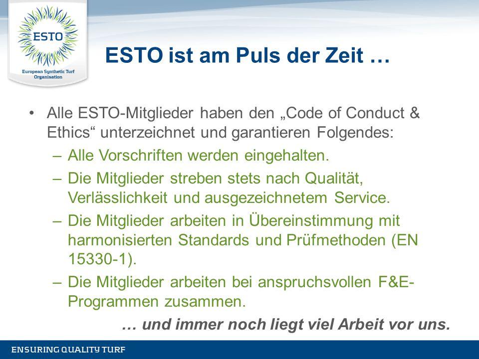 """ESTO ist am Puls der Zeit … Alle ESTO-Mitglieder haben den """"Code of Conduct & Ethics"""" unterzeichnet und garantieren Folgendes: –Alle Vorschriften werd"""