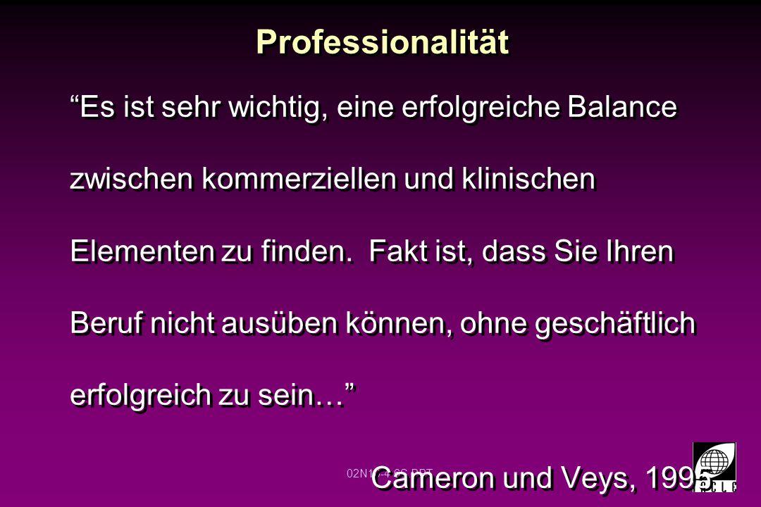 02N10-4-7S.PPT Professionalität definieren Wenn Sie beurteilen, was die Leute von Experten erwarten….., erwarten sie generell zwei Sachen … Integrität und Ehrlichkeit. Cameron und Veys, 1995