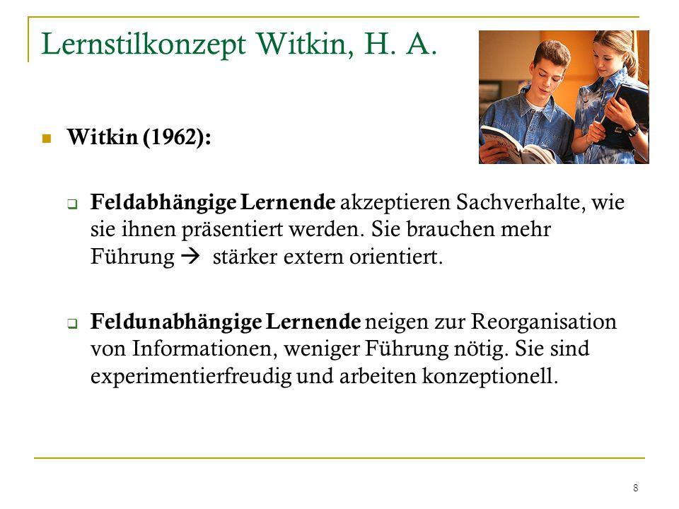 8 Lernstilkonzept Witkin, H. A.