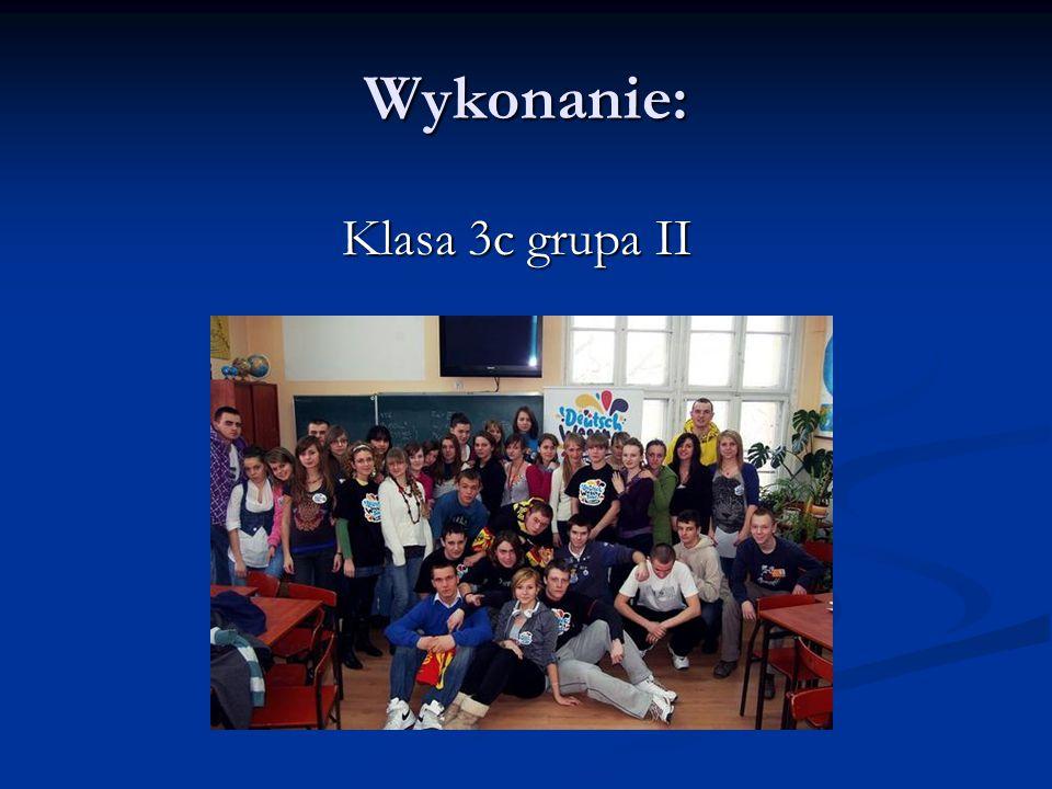 Wykonanie: Klasa 3c grupa II