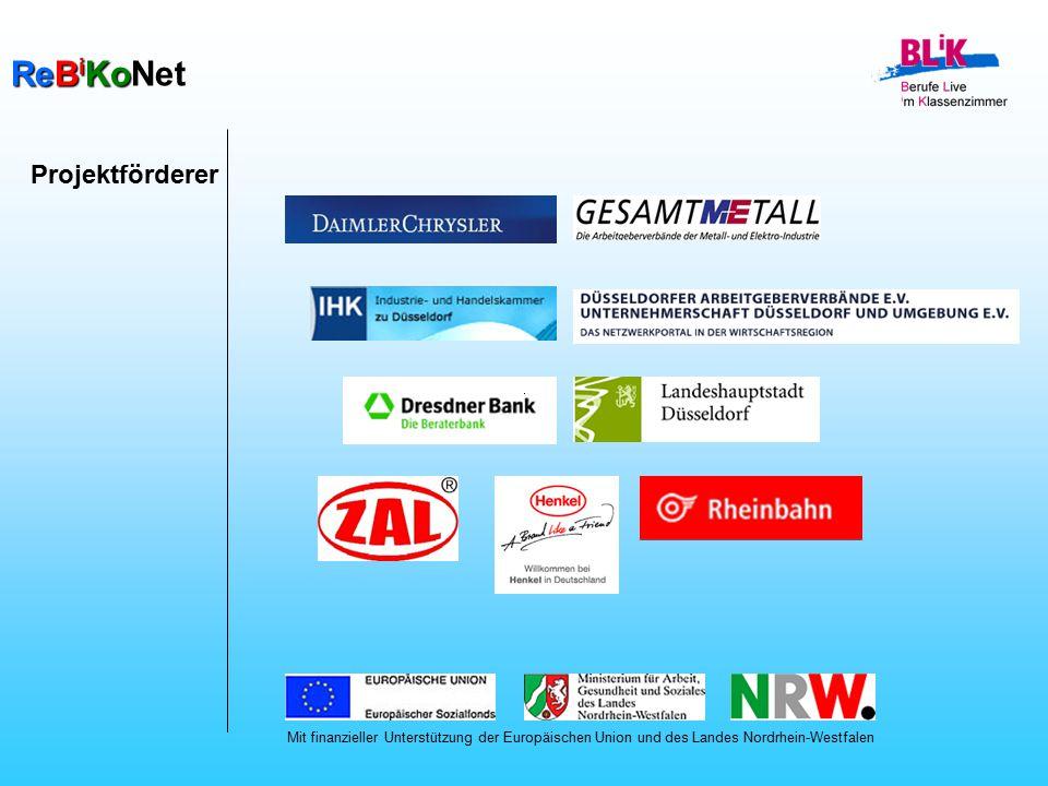 ReB i KoNet Projektförderer Mit finanzieller Unterstützung der Europäischen Union und des Landes Nordrhein-Westfalen