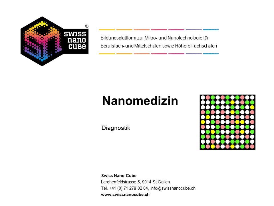 © 2014 - Swiss Nano-Cube Selbstdiagnostika Microarrays Lab-on-a-chip- Systeme Übersicht Nanoanalytik 1