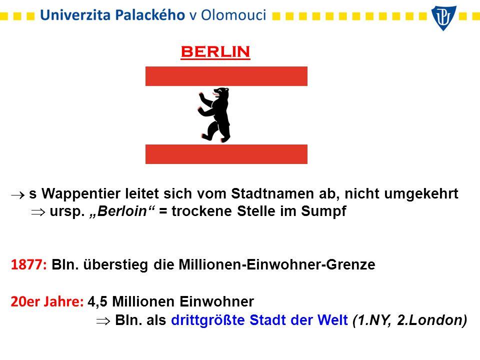 BERLIN  s Wappentier leitet sich vom Stadtnamen ab, nicht umgekehrt  ursp.