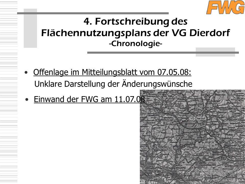 Offenlage im Mitteilungsblatt vom 07.05.08: Unklare Darstellung der Änderungswünsche 4.