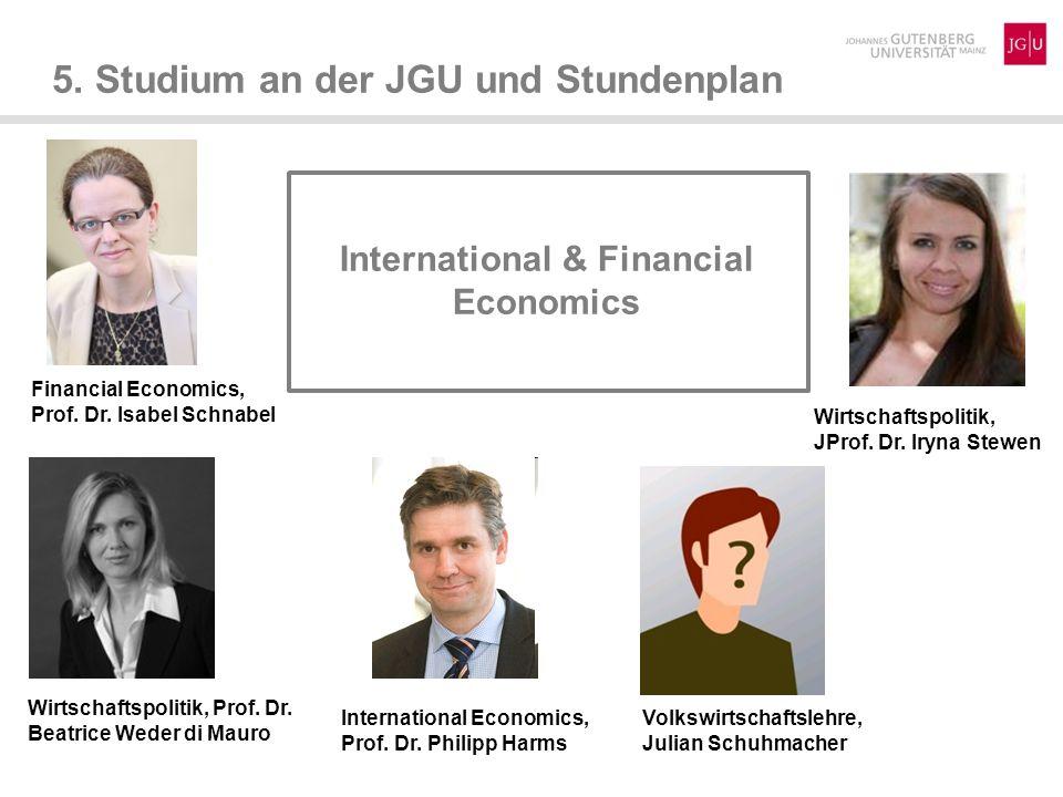 5.Studium an der JGU und Stundenplan International Management and Marketing Marketing I, Prof.