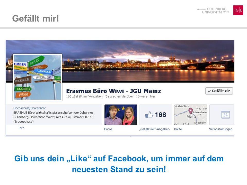 """Gefällt mir! Gib uns dein """"Like auf Facebook, um immer auf dem neuesten Stand zu sein!"""