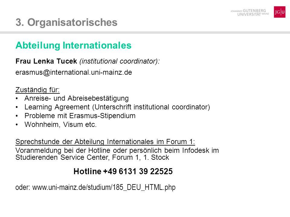 3.Organisatorisches Ansprechpartner im Studienbüro (Contact persons) Bachelor:  Dipl.-Hdl.