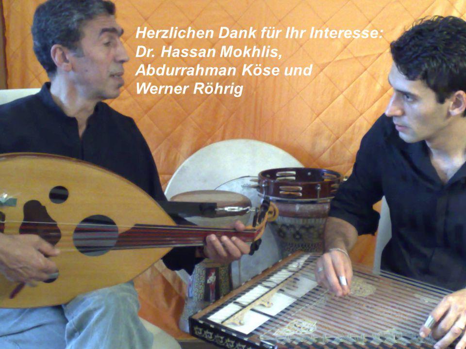 Herzlichen Dank für Ihr Interesse: Dr. Hassan Mokhlis, Abdurrahman Köse und Werner Röhrig