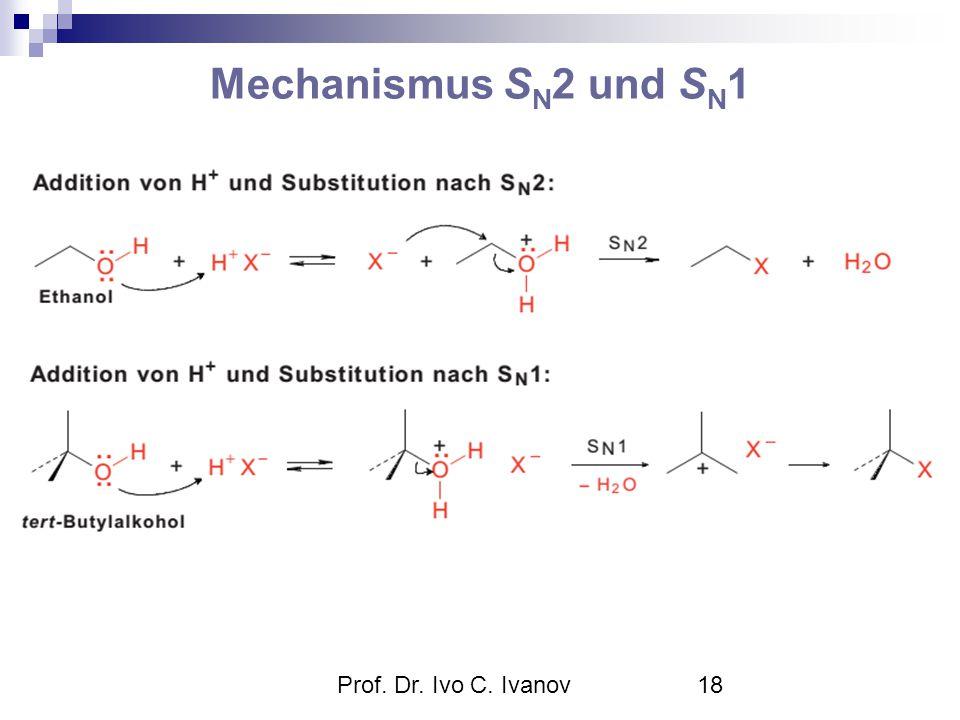 Prof. Dr. Ivo C. Ivanov18 Mechanismus S N 2 und S N 1