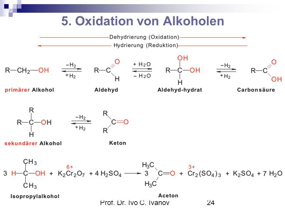 Prof. Dr. Ivo C. Ivanov24 5. Oxidation von Alkoholen