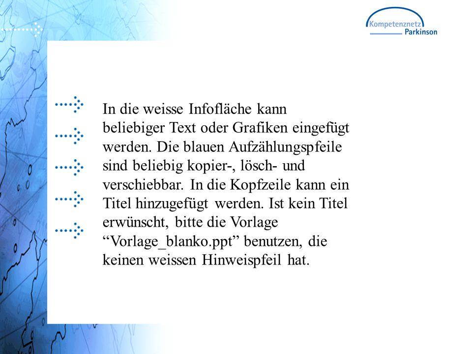 In die weisse Infofläche kann beliebiger Text oder Grafiken eingefügt werden.