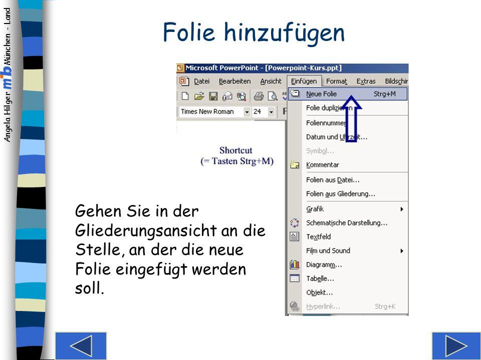 Angela Hilger München - Land Die Folienansichten