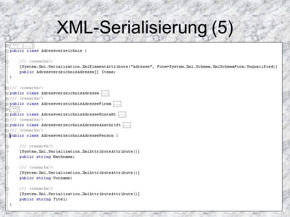 XML-Serialisierung (5)