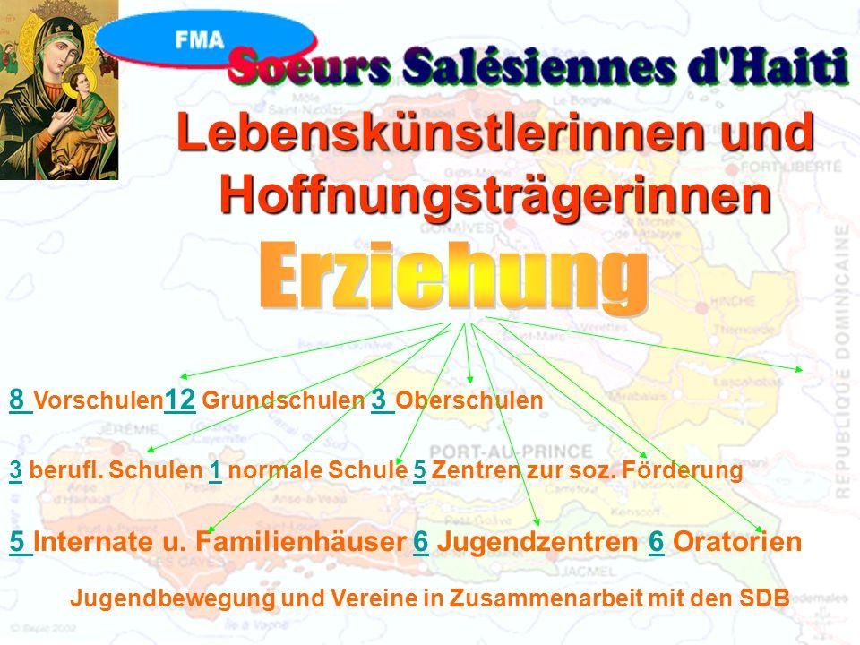 Lebenskünstlerinnen und Hoffnungsträgerinnen 8 Vorschulen 12 Grundschulen 3 Oberschulen 3 berufl.