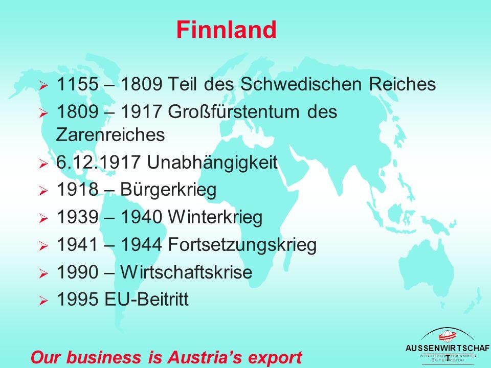 AUSSENWIRTSCHAF T W I R T S C H A F T S K A M M E R Ö S T E R R E I C H Our business is Austria's export success 2001 Österreich - Finnland Aussenhandel (nach SITC-Produktgruppen)