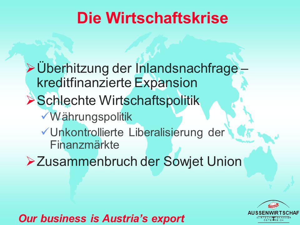 AUSSENWIRTSCHAF T W I R T S C H A F T S K A M M E R Ö S T E R R E I C H Our business is Austria's export success Entwicklung der F&E 1989 - 2000