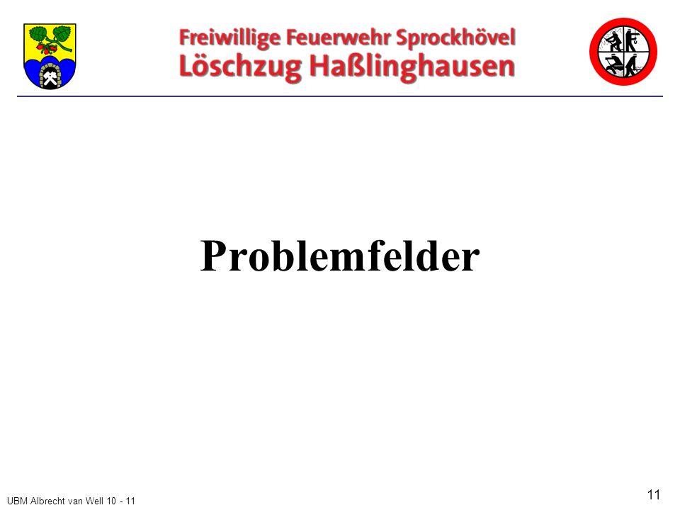 UBM Albrecht van Well 10 - 11 Problemfelder 11