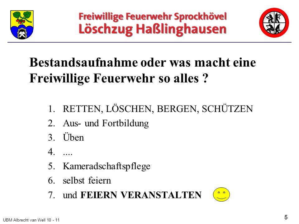 UBM Albrecht van Well 10 - 11 Bestandsaufnahme oder was macht eine Freiwillige Feuerwehr so alles .