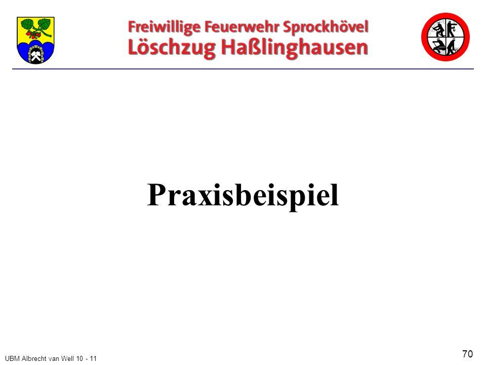 UBM Albrecht van Well 10 - 11 Praxisbeispiel 70