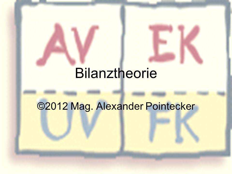 Bilanztheorie ©2012 Mag. Alexander Pointecker