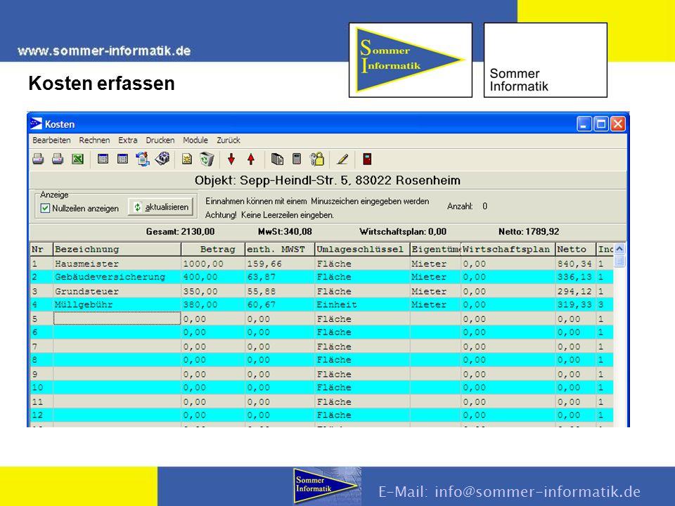 E-Mail: info@sommer-informatik.de Kosten erfassen