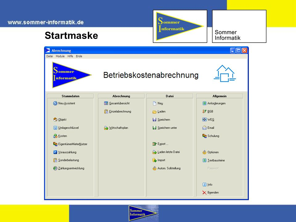 Gesamtübersicht drucken E-Mail: info@sommer-informatik.de