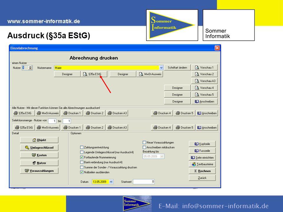 E-Mail: info@sommer-informatik.de Ausdruck (§35a EStG)