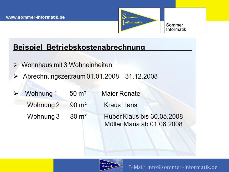 E-Mail: info@sommer-informatik.de Vorauszahlungen eingeben