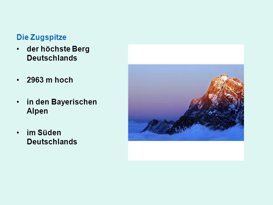 der höchste Berg Deutschlands 2963 m hoch in den Bayerischen Alpen im Süden Deutschlands Die Zugspitze