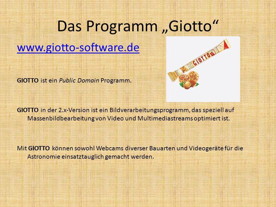 """Das Programm """"Giotto www.giotto-software.de GIOTTO ist ein Public Domain Programm."""