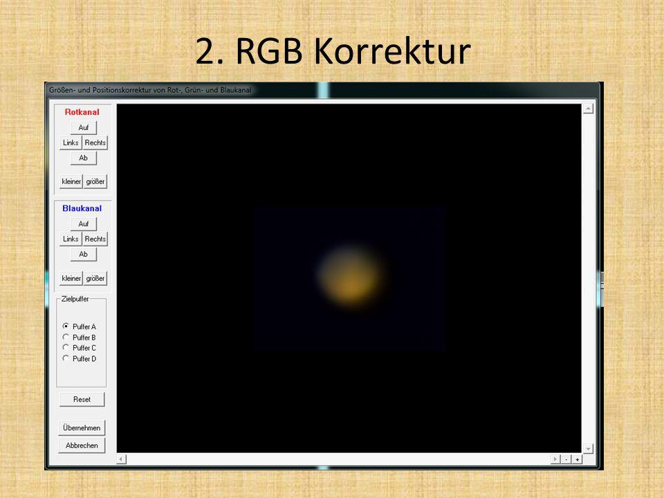 2. RGB Korrektur