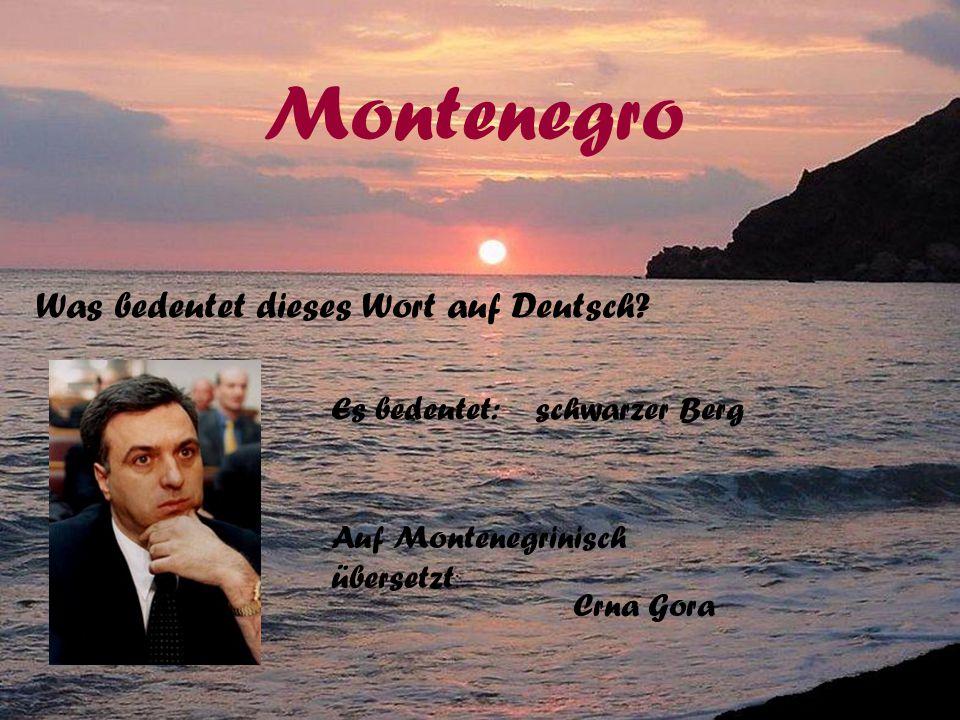 Wo liegt Montenegro? Montenegro Hier kommmt die Lösung: