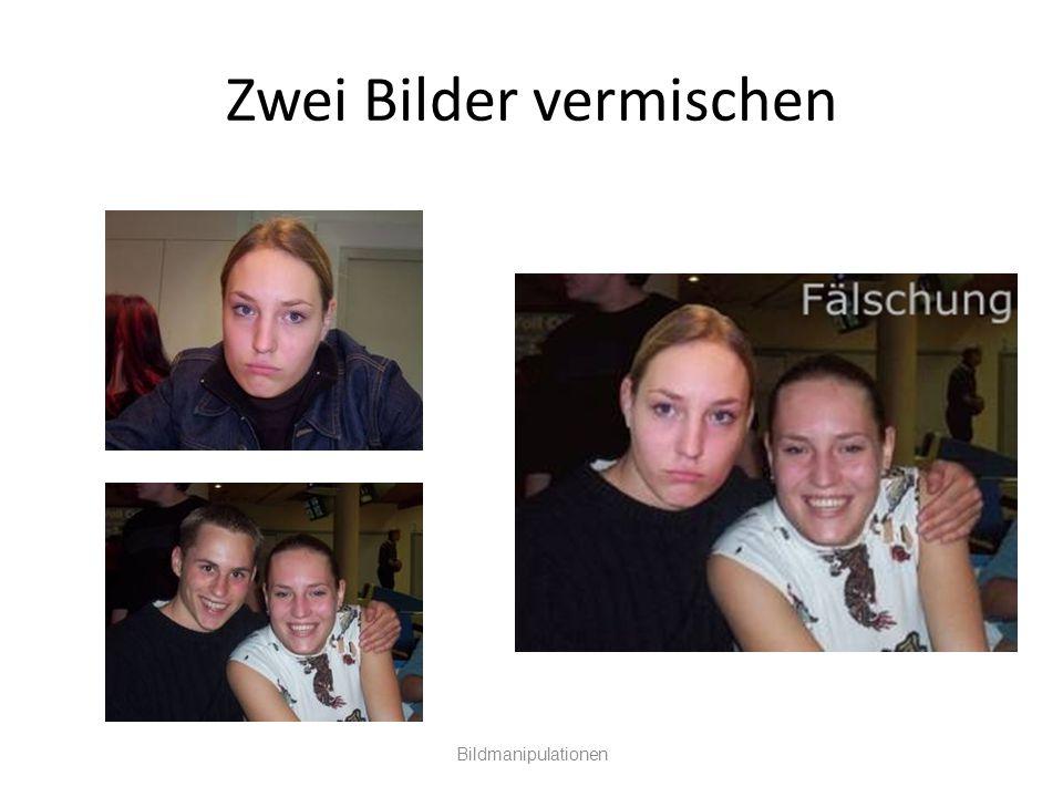 Zwei Bilder vermischen Bildmanipulationen