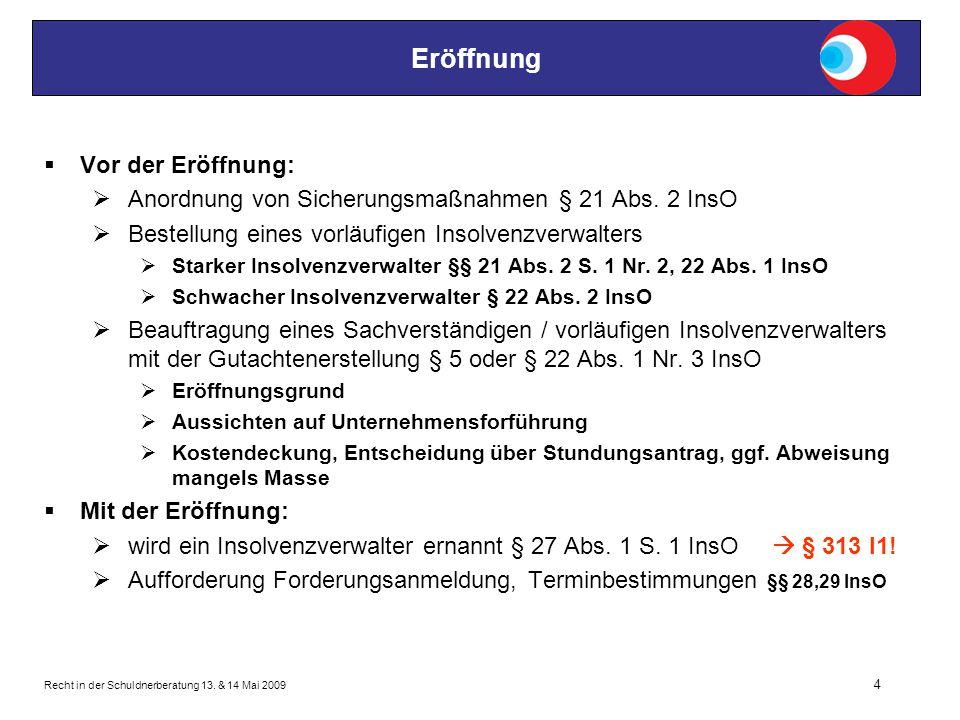 Recht in der Schuldnerberatung 13.