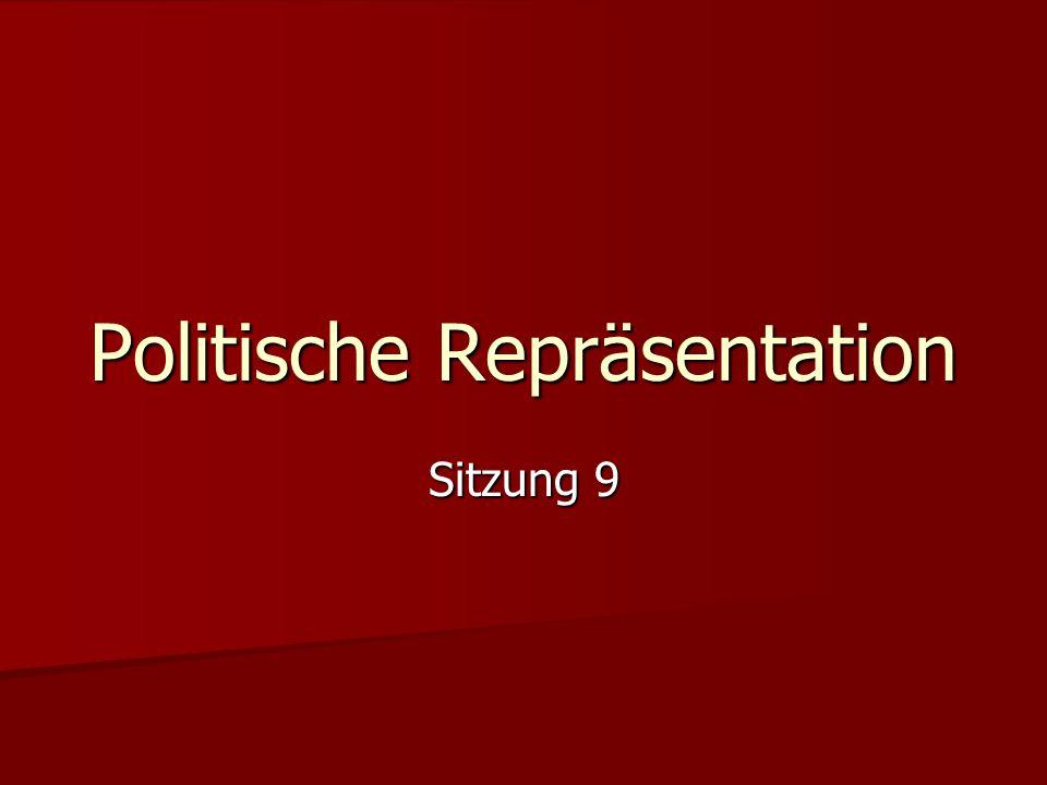Sitzung 9 Politische Repräsentation