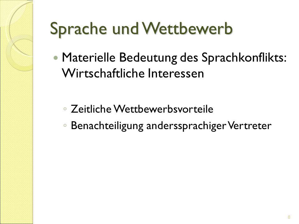 Rechnungshof Vor allem Englisch, Französisch und Deutsch als interne Arbeitssprachen 19